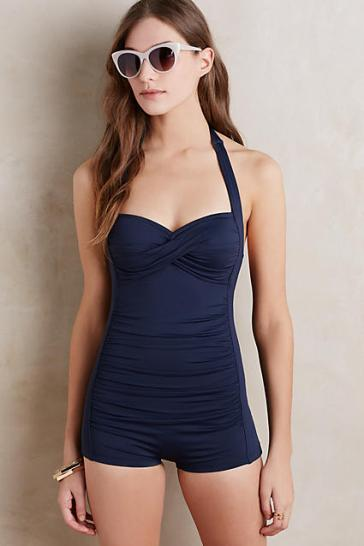 Navy Blue Anthropology Swimsuit